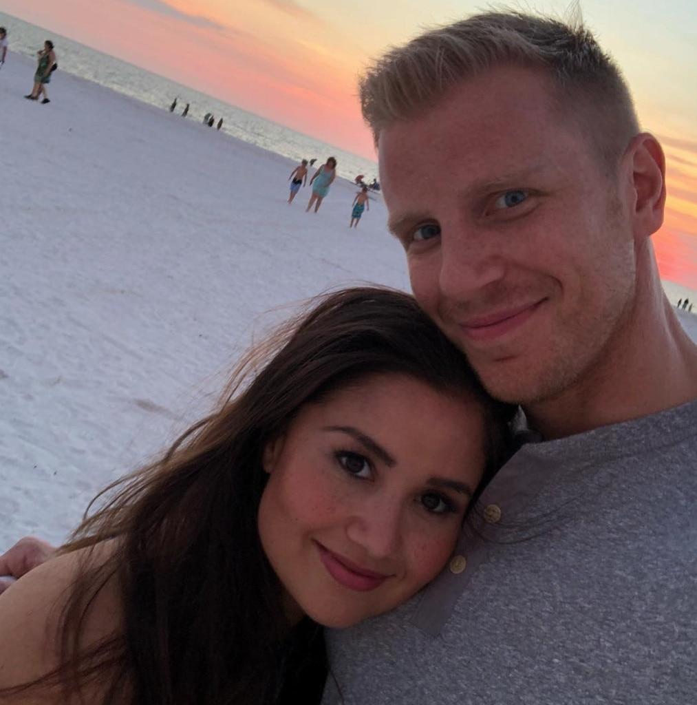 """Sean Lowe & Catherine Giudici -  """"My absolute everything. Happy Valentine's Day my love,"""" the Bachelor Nation star gushed."""