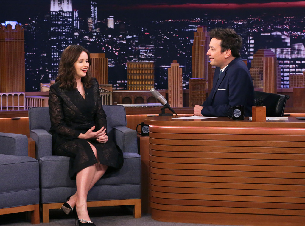Felicity Jones, Tonight Show, Jimmy Fallon