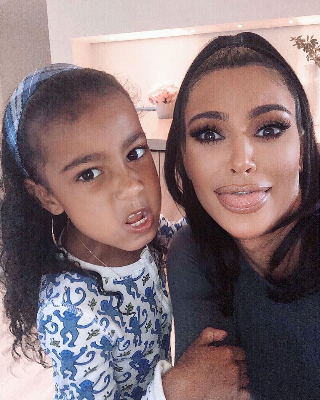 Kim Kardashian West, North West, Instagram