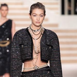 Gigi Hadid, 2019 Chanel Metiers d'Art Fashion Show