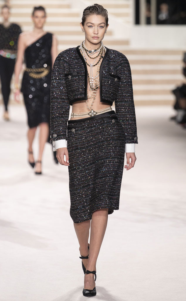 Gigi Hadid, 2019 Chanel Metiers d'Art Fashion Show