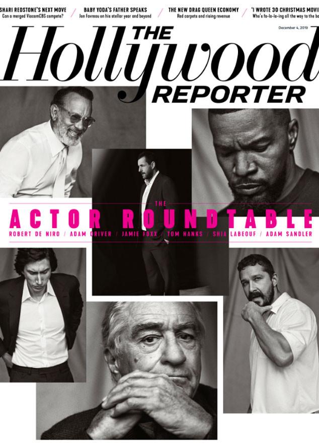 The Hollywood Reporter, Jamie Foxx, Tom Hanks, Robert DeNiro, Shia LaBeouf, Adam Driver, Adam Sandler
