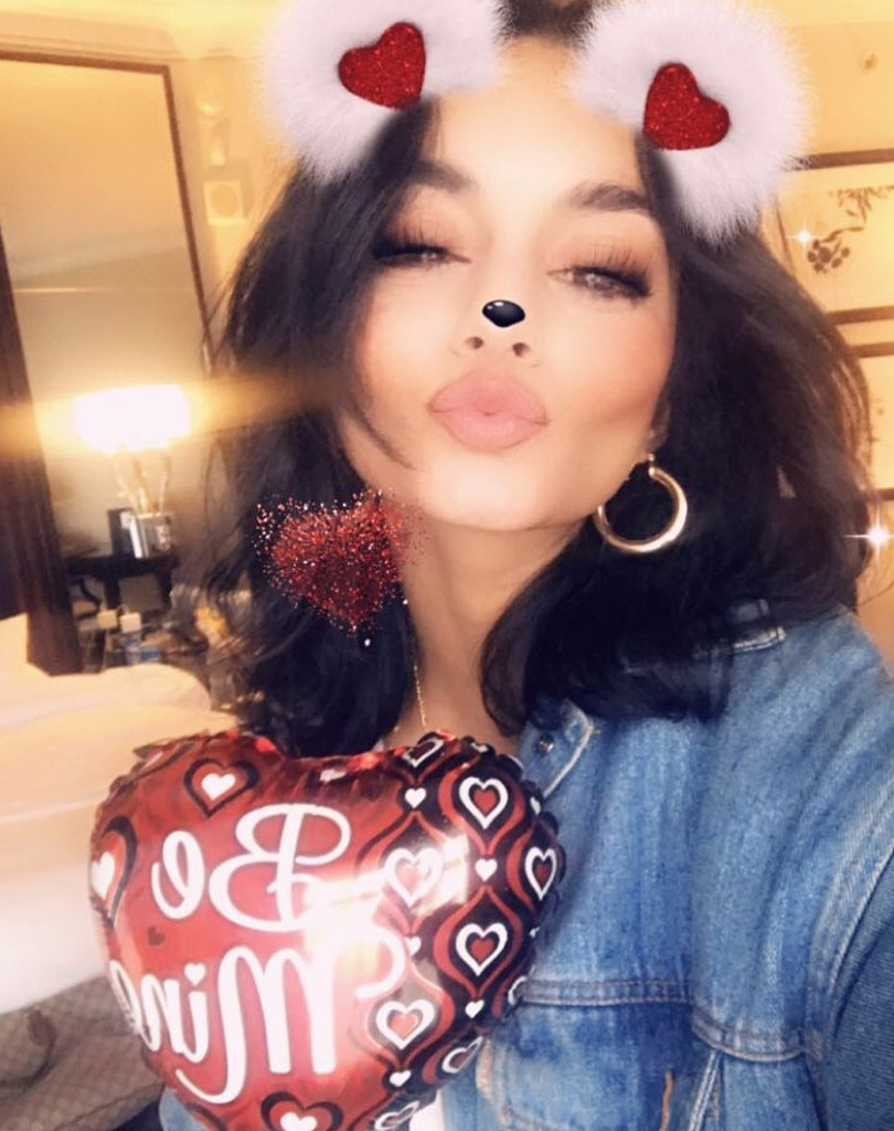 Vanessa Hudgens -  The actress gets in the Valentine's Day spirit with this festive photo.