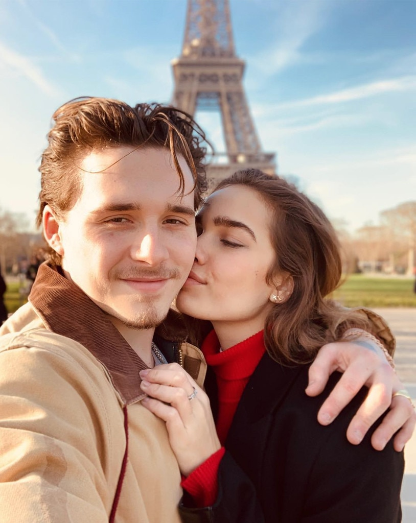 """Brooklyn Beckham & Hana Cross -  """"Me and my girl. Luckiest man in the world. Love you baby,"""" the star gushed on Instagram."""