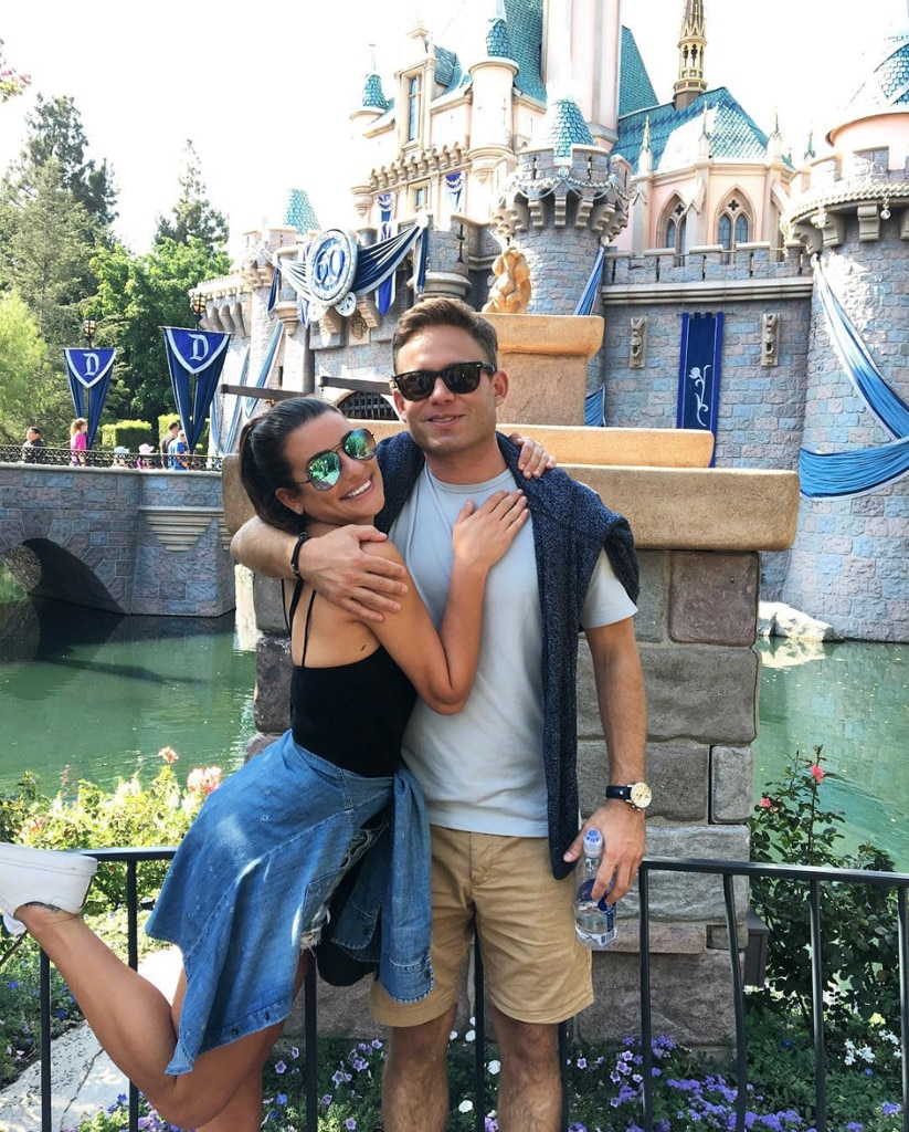Lea Michele & Zandy Reich -  The future newlyweds celebrate the special day with this throwback photo from a trip to Disneyland.