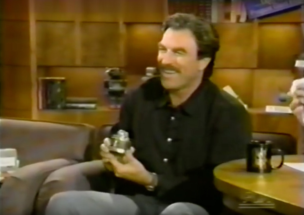 Tom Selleck, 1993 -  The actorappeared on The Chevy Chase Show to accept his Golden Raspberry for Worst Supporting Actor for his work in Christopher Columbus: The Discovery.