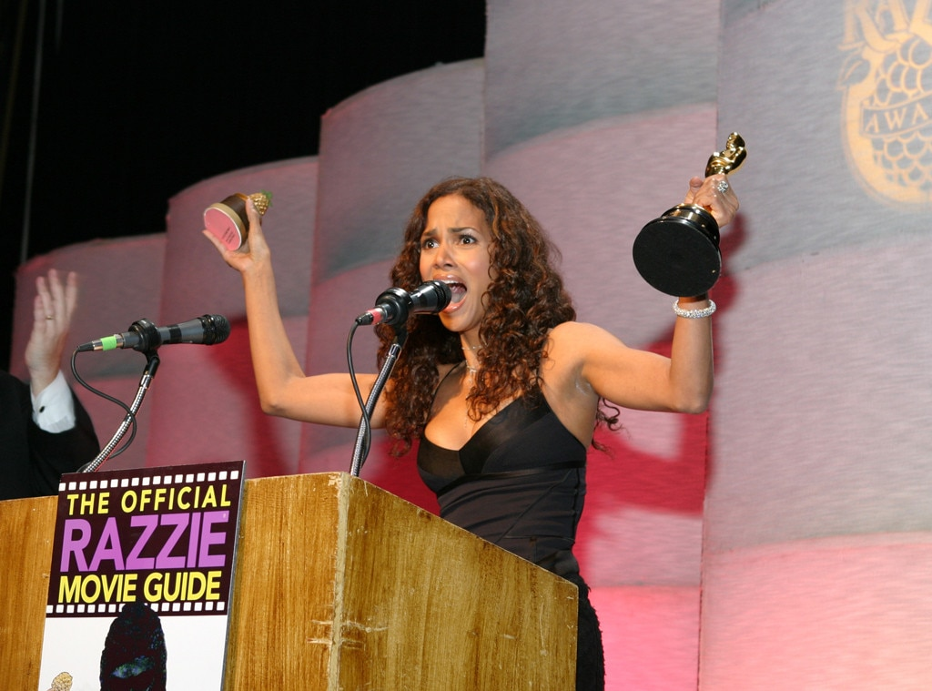 Halle Berry, 2005 -  The A-list  star accepted the award for Worst Actress for her role in Catwoman.  She famously attended the 25th Golden Raspberry Awards to accept her award, while holding the Oscar she had just received for her performance in Monster's Ball.