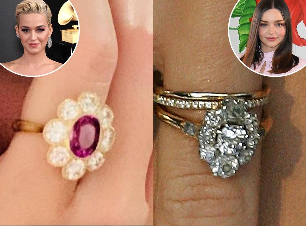 Katy Perry, Miranda Kerr, Engagement Rings