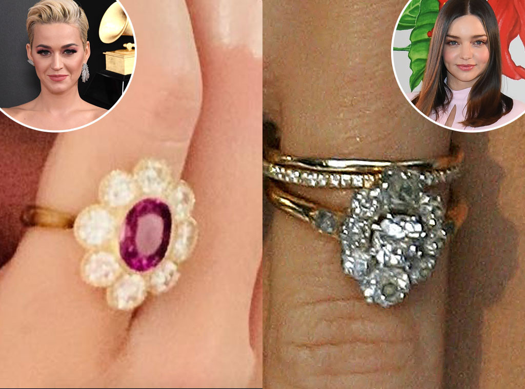 Katy Perry, Miranda Kerr, Engagement Rings