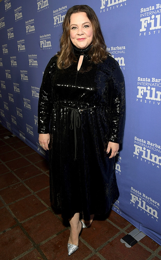 Bold in Black -  The  Saturday Night Live  favorite sparkled on the red carpet at theSanta Barbara International Film Festival.