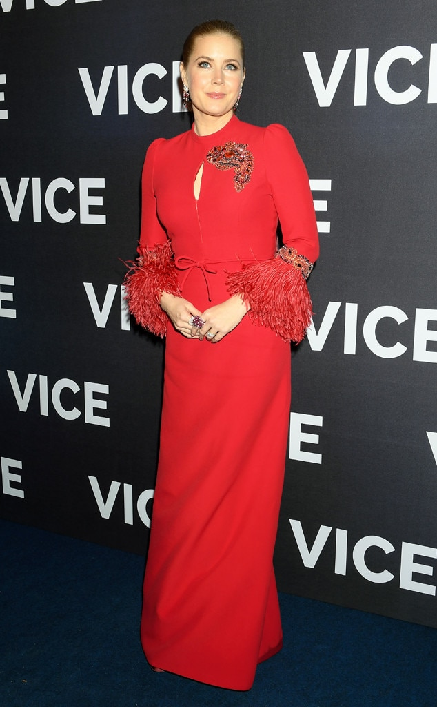 Vice  Premiere - Paris -  Adams was red hot at the Paris premiere of her latest movie.