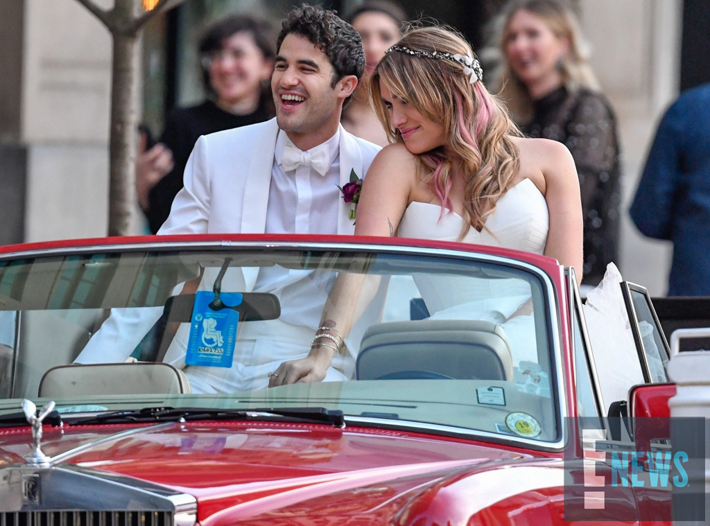 Darren Criss, Mia Swier, Wedding Exclusive