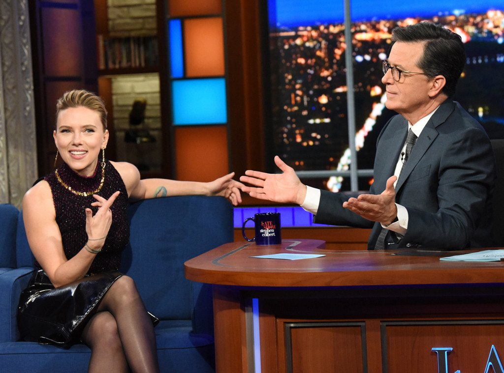 Scarlett Johansson, The Late Show with Stephen Colbert 2019