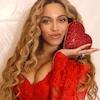 Beyoncé Showcases Red-Hot Look in Valentine's Day Photo Shoot