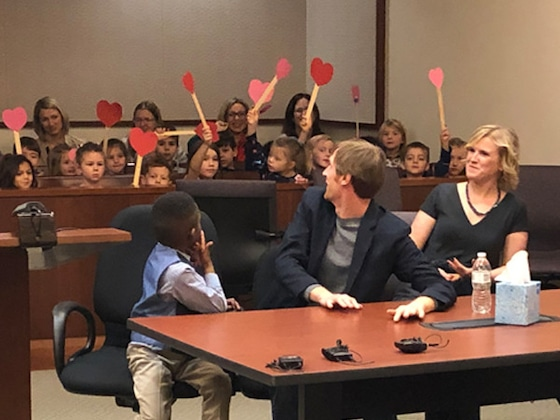 These Photos of a 5-Year-Old Boy's Classmates Supporting Him at His Adoption Will Warm Your Heart