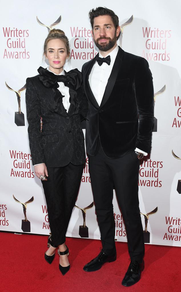 Emily Blunt, John Krasinski, Writers Guild Awards 2019