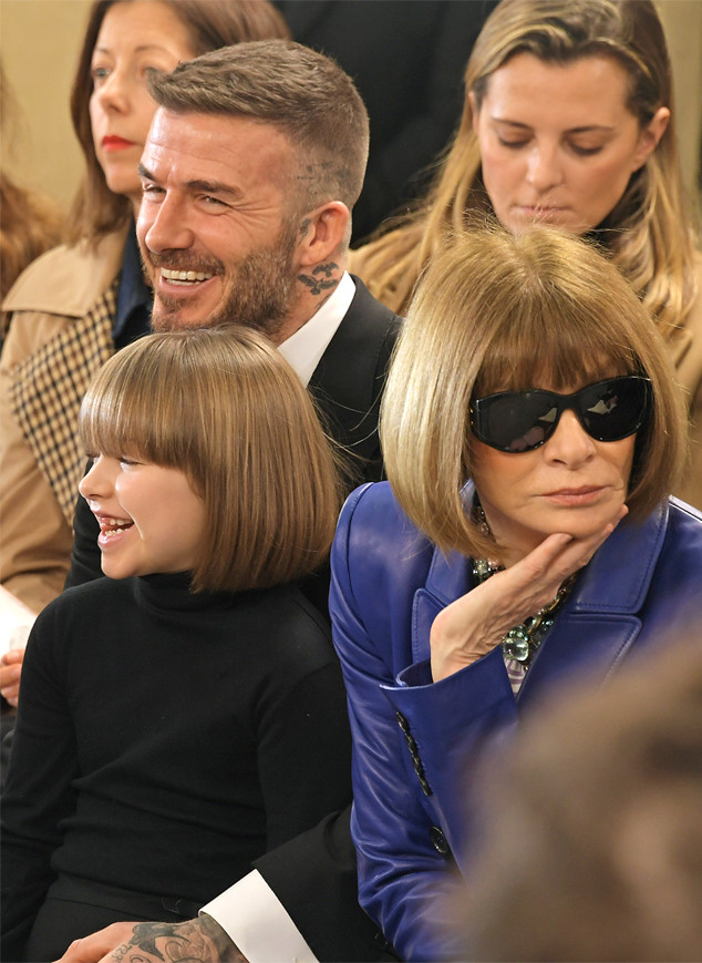Harper Beckham, David Beckham, Anna Wintour, London Fashion Week 2019