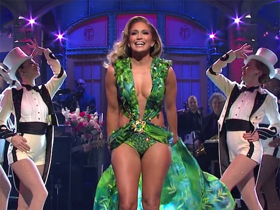 Jennifer Lopez Busts Out Her Iconic Green Dress on <i>SNL</i>: 5 Best Moments From the Show