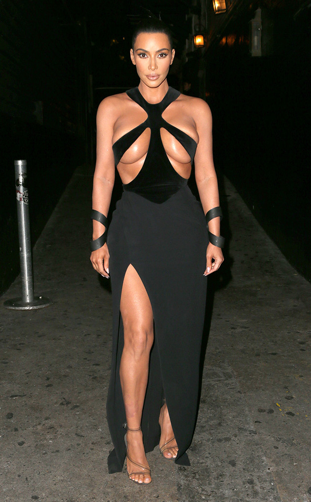 cfddb1230a8a9 Kim Kardashian Debuts Her Most Shocking Dress Yet (and Avoids a ...