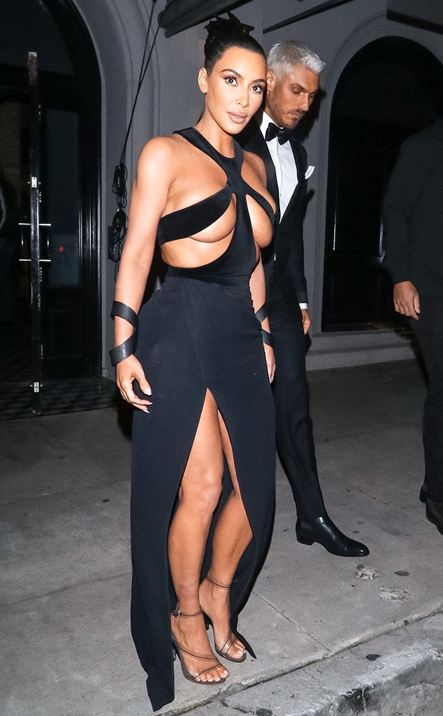 Kim Kardashian Debuts Her Most Shocking Dress Yet