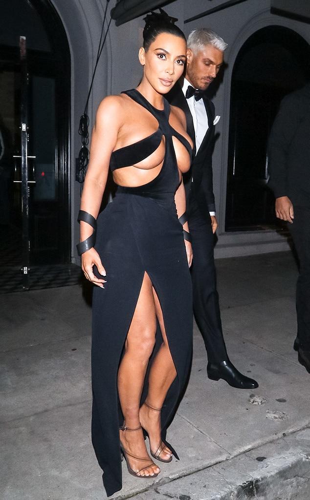 Kim Kardashian Debuts Her Most Shocking Dress Yet