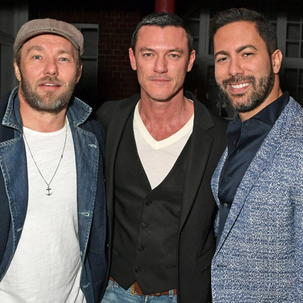 Joel Edgerton, Luke Evans, Victor Turpin, London Fashion Week Parties