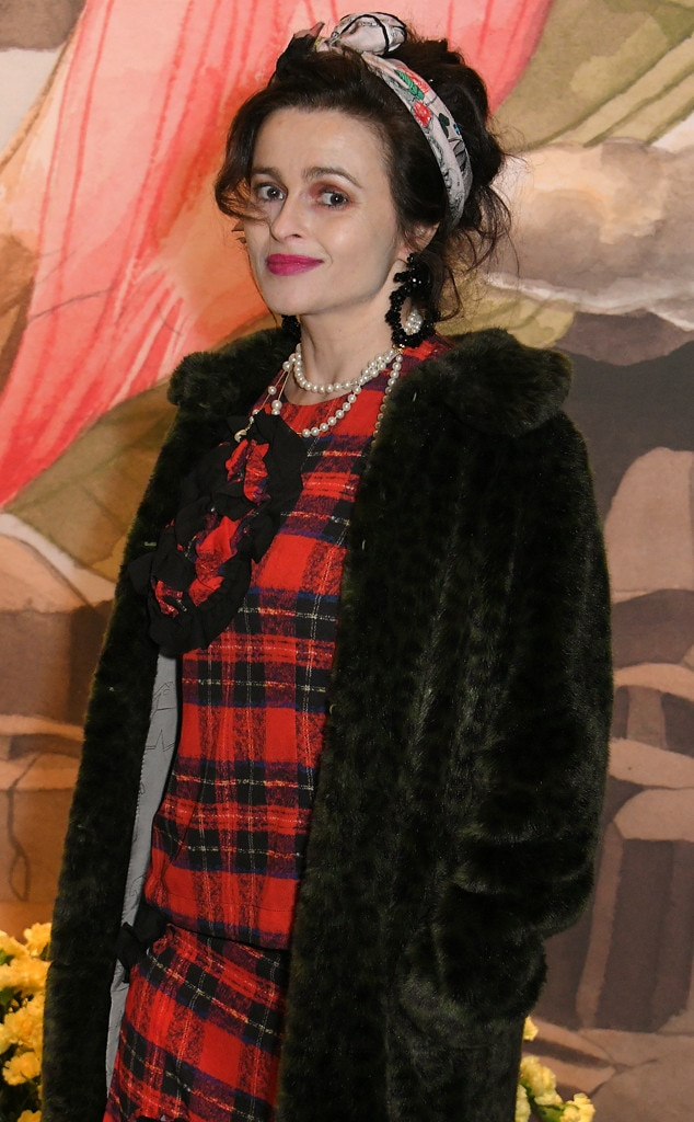 Helena Bonham Carter -  Lady in plaid!