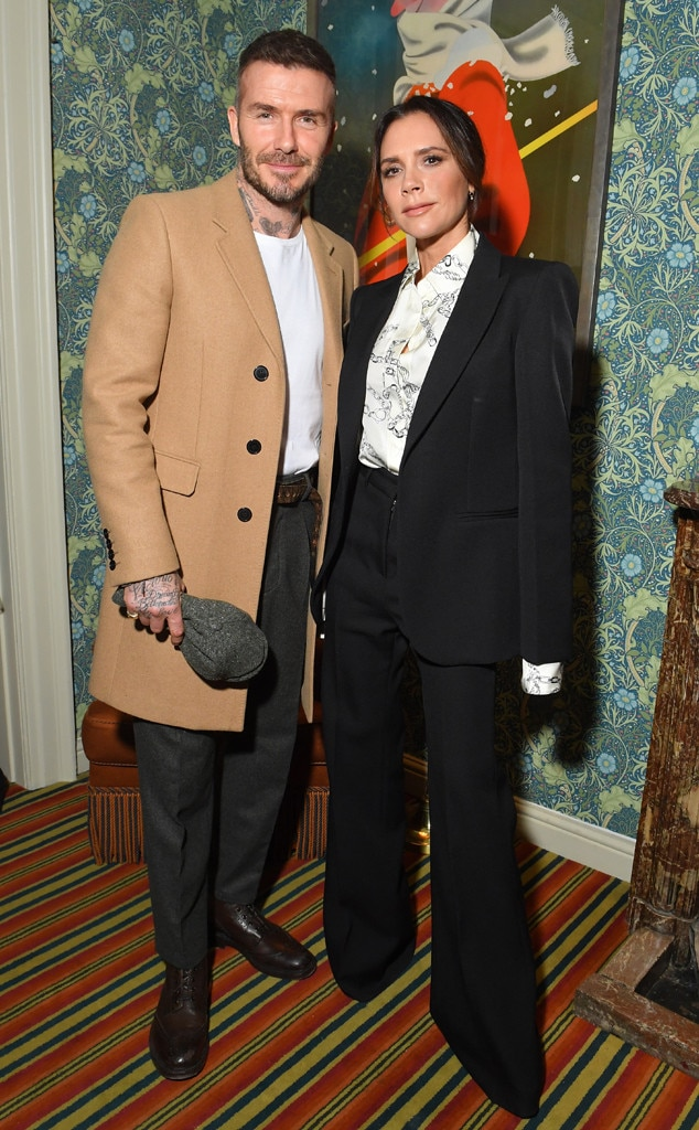Victoria Beckham & David Beckham -  Attended the Victoria Beckham x YouTube Fashion & Beauty after party on Feb. 17, 2019.