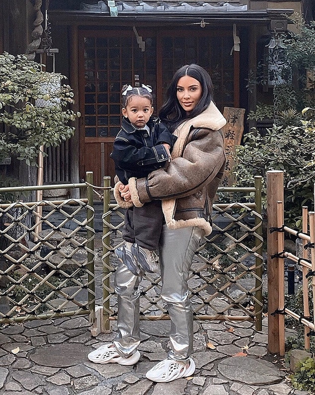 Kim Kardashian, Chicago West, Instagram