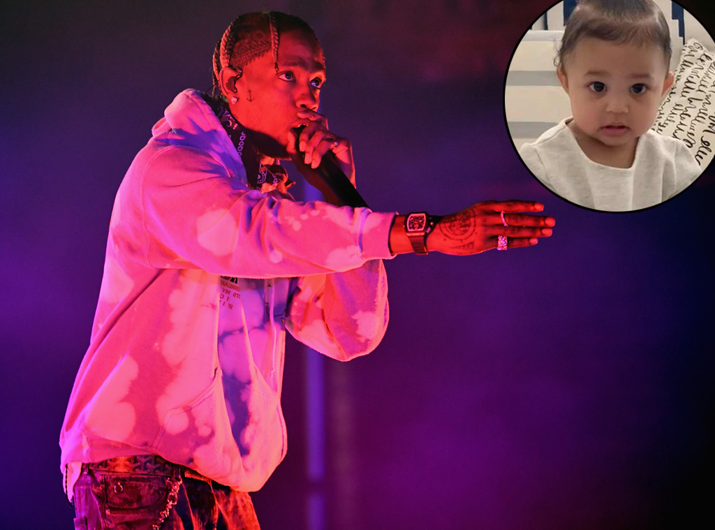 65b4fce6ffb8 Travis Scott Gives Daughter Stormi a Birthday Shout-Out Onstage at Super  Bowl Party