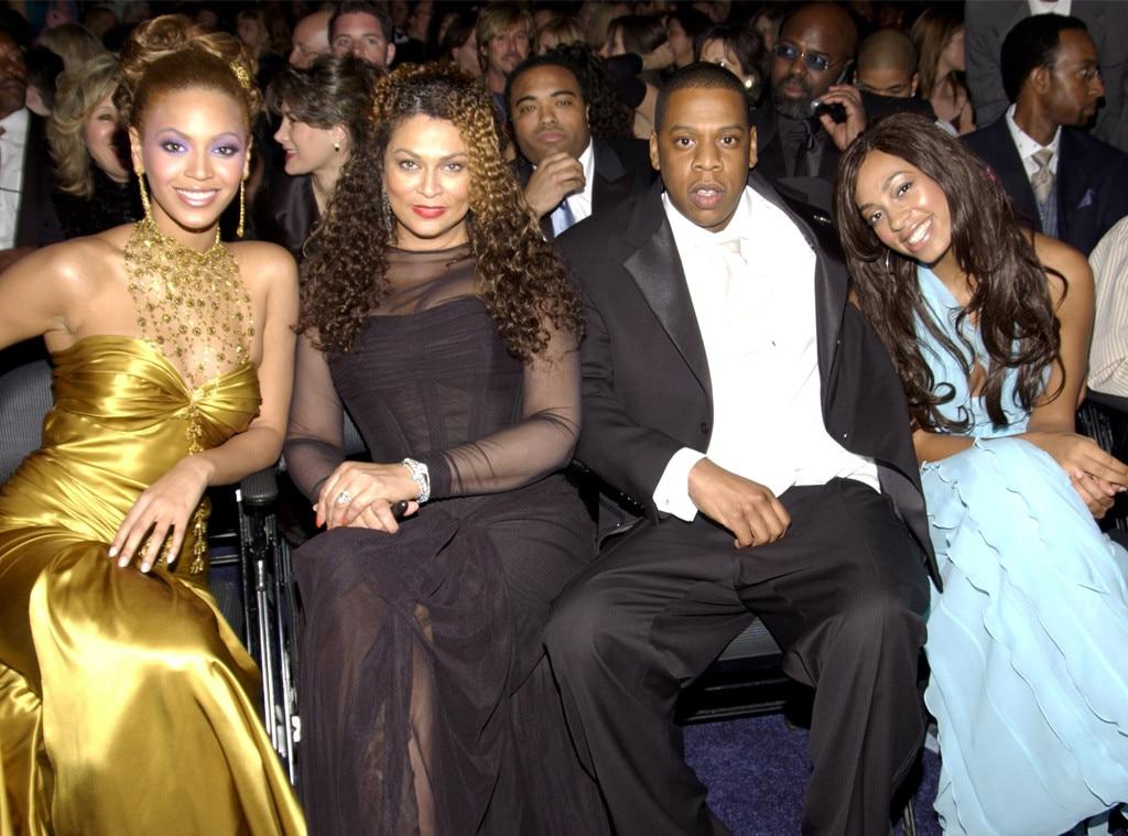 Beyonce, Tina Knowles, Jay-Z, 2004 Grammy Awards