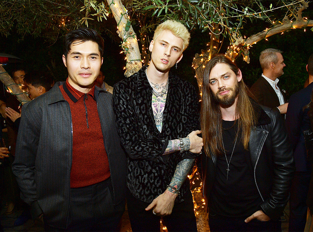 Henry Golding, Machine Gun Kelly, Tom Payne, Vanity Fair and LOréal Paris Pre-Oscars Party