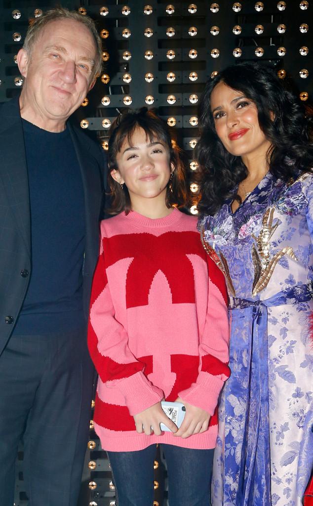 Salma Hayek, Valentina Paloma Pinault, Francois-Henri Pinault, Milan Fashion Week 2019