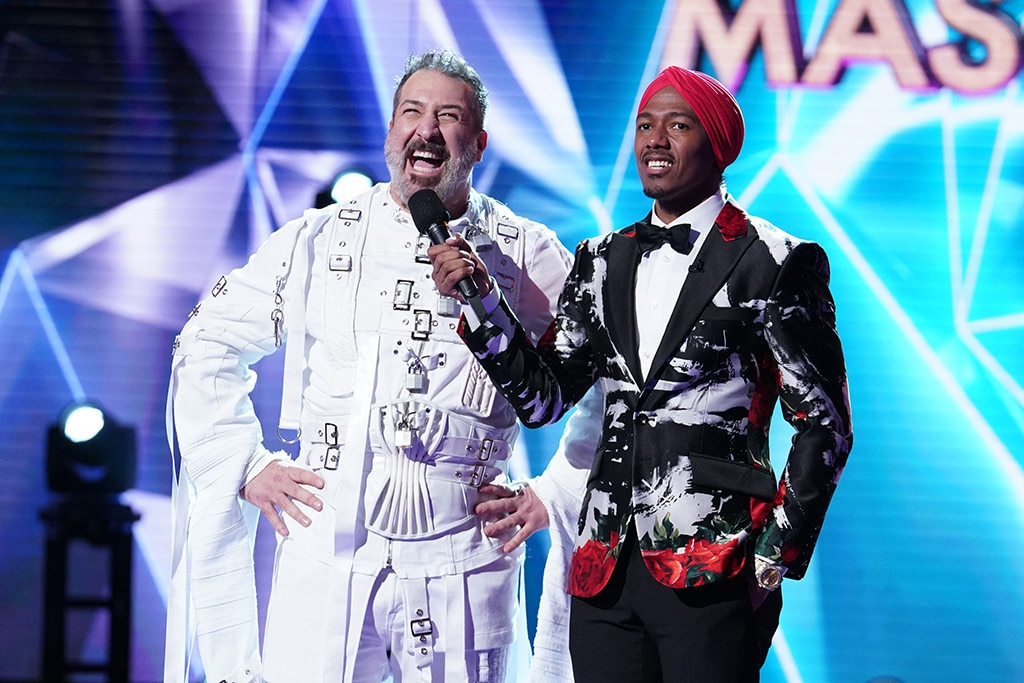 Staying in Character -  Joey Fatone didn't just play himself in a Rabbit costume. He went full crazy rabbit, taking his cues from the straitjacket the Rabbit is inexplicably wearing.