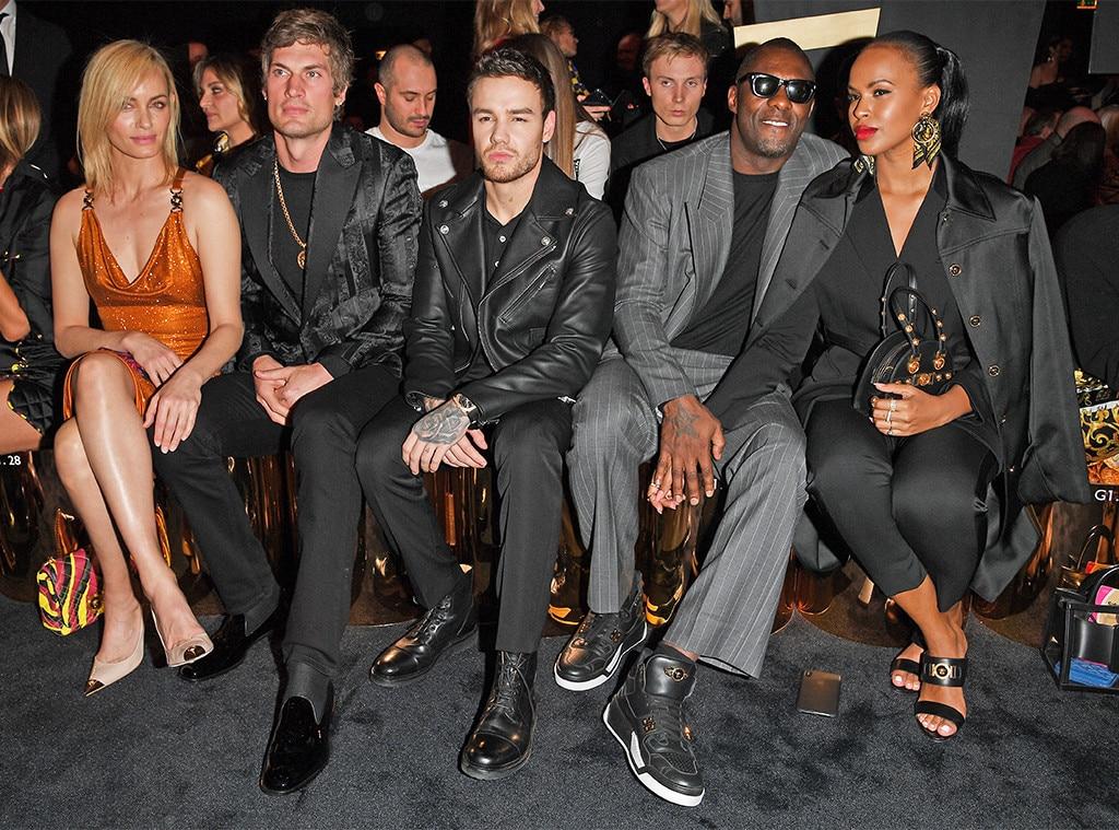 Amber Valletta, Teddy Charles, Liam Payne, Idris Elba, Milan Fashion Week, Celebs at Fashion Week