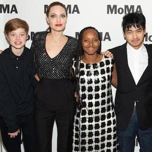 Shiloh Jolie-Pitt, Angelina Jolie, Zahara Jolie-Pitt, Pax Jolie-Pitt, Prune Nourr, Maddox Jolie-Pitt