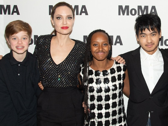 Angelina Jolie and Her Kids Enjoy a Night Out at the Museum
