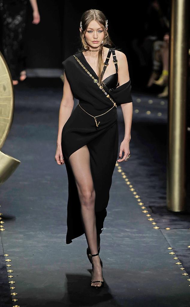Gigi Hadid, Versace, Milan Fashion Week