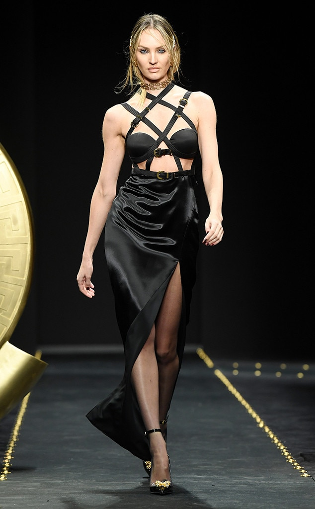 Candice Swanepoel, Versace, Milan Fashion Week