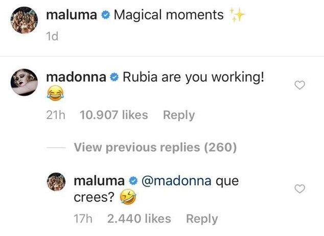 Madonna aparece junto a Maluma en un estudio de grabación