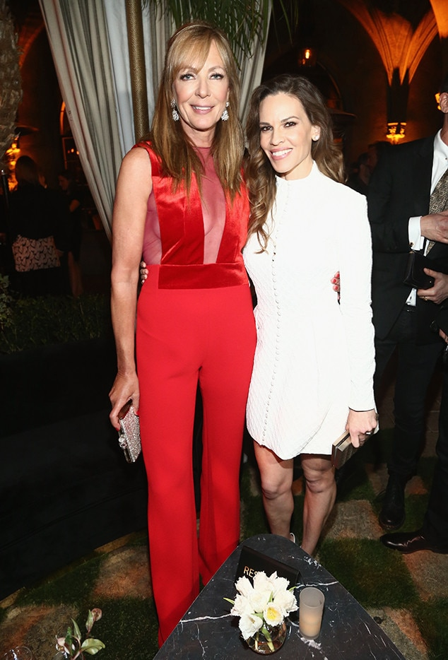 Allison Janney and Hilary Swank -  The Oscar-winning actresses pose for a pic atCadillac's Oscars weekend cocktail bash.