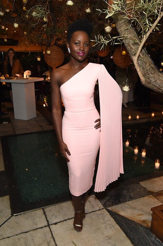 Lupita Nyong'o -  The Oscar winner showcases a glamorous look at the Vanity Fair andLancôme Toast Women in Hollywood event.