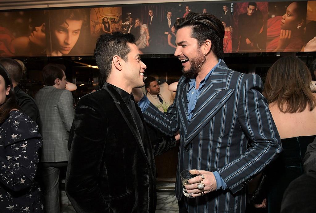 Rami Malek And Adam Lambert From Pre Oscars Parties 2019 E News