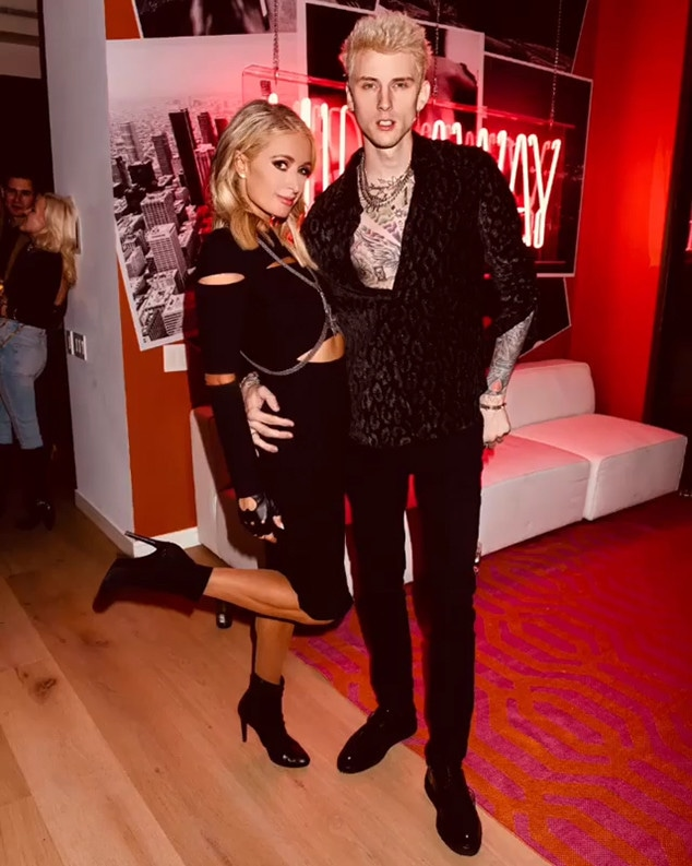 Paris Hilton, Machine Gun Kelly, Instagram