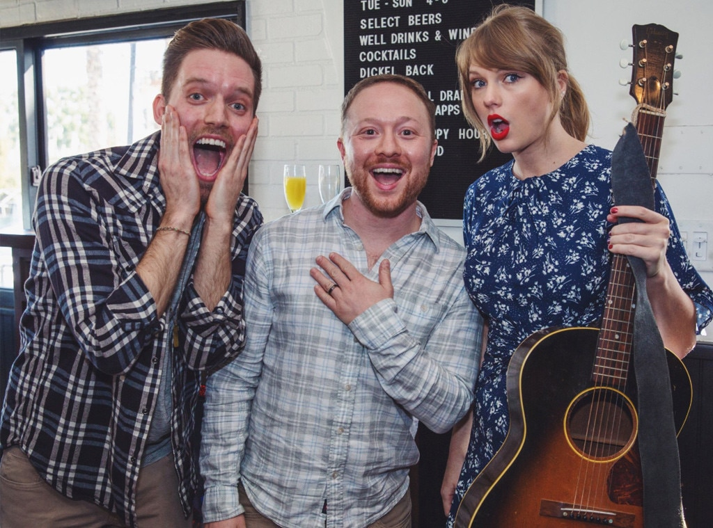 Taylor Swift surprises couple at engagement party