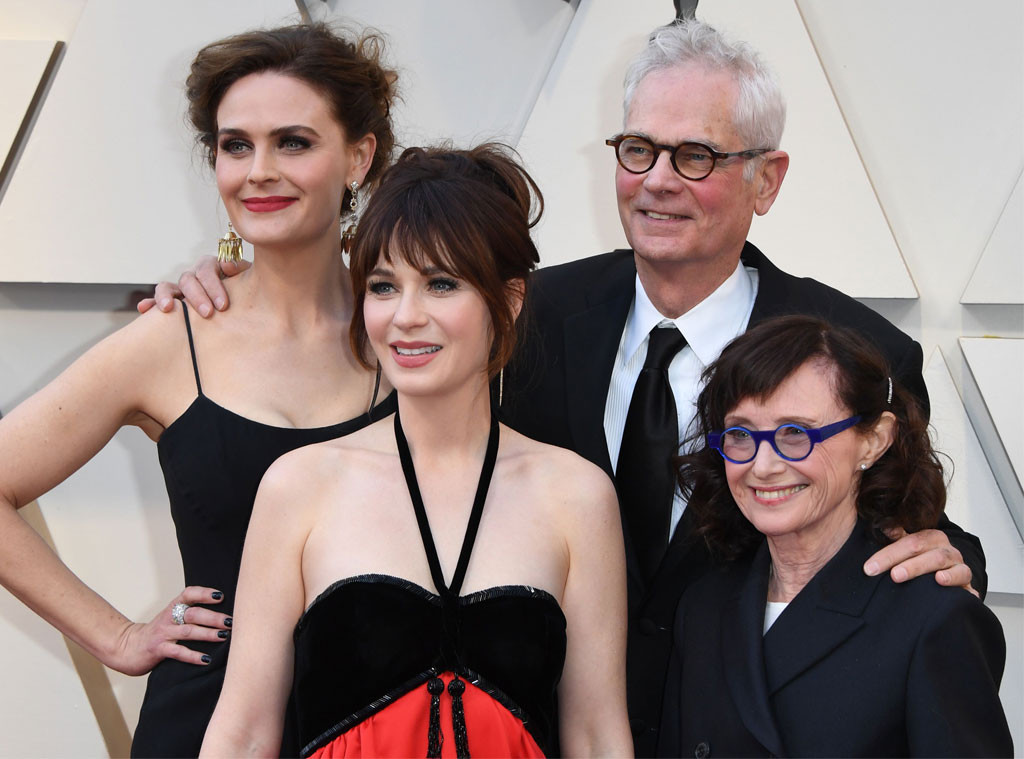 Emily Deschanel, Zooey Deschanel, Caleb Deschanel, Mary Jo Deschanel, 2019 Oscars, 2019 Academy Awards