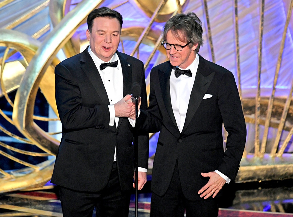 Wayne's World : Mike Myers and Dana Carvey -  Party on! The Wayne's World stars reunited on stage to, obviously, introduce  Bohemian Rhapsody .