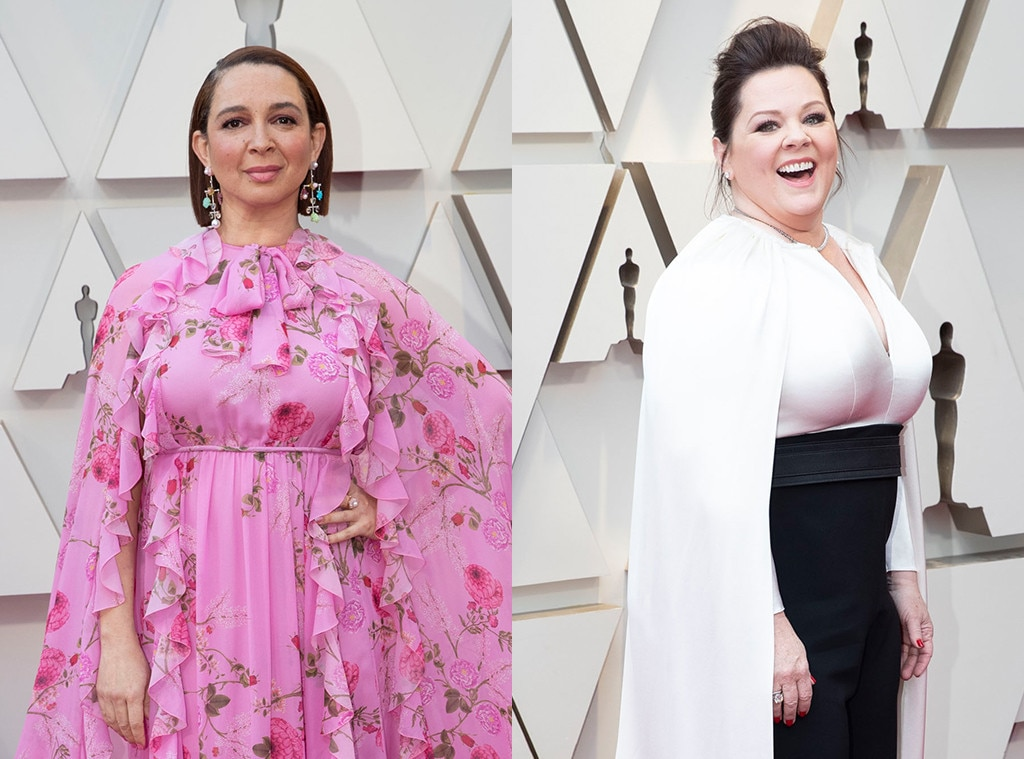 Bridesmaids : Melissa McCarthy and Maya Rudolph -  The  Bridesmaids  stars both killed it on stage as presenters (still laughing at McCarthy's insane costume), and McCarthy was nominated for best actress. We'd give up all those dogs we've got stashed in our van to see them together again.