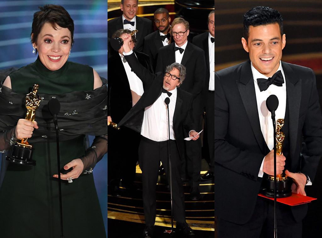 Rami Malek, Green Book, Olivia Coleman, 2019 Oscars, Jaw Droppers