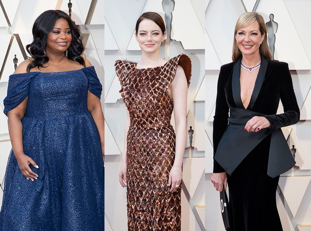 The Help : Emma Stone, Octavia Spencer, Alison Janney -  Stone and Janney reunited on the red carpet, but we'd never say no to a group hug to remind us that  The Help  came out 8 years ago!